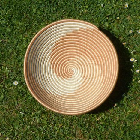 Natural swirls bowl