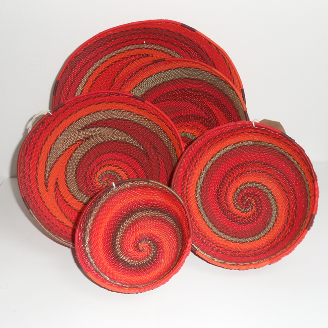 Telephone Wire Basket Reds