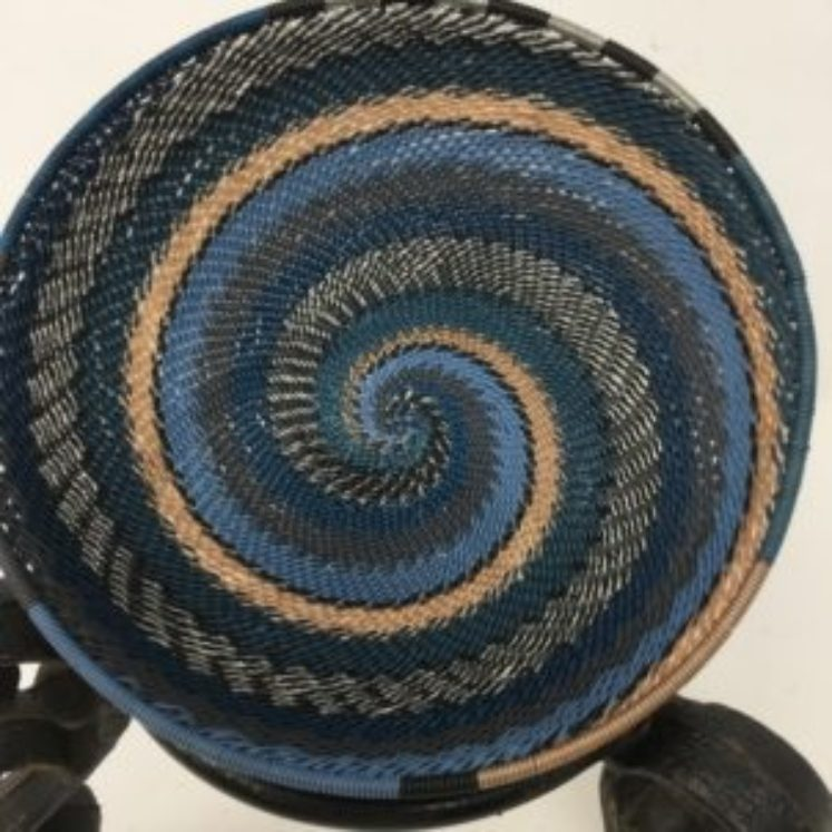 Telephone Wire Basket Moody Blue 2