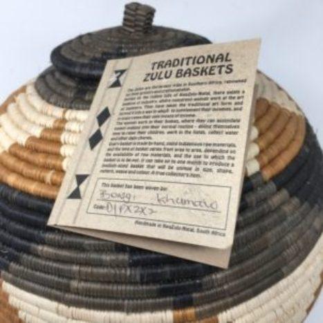 Zulu Ilala Palm Beer Basket – Ukhamba BK