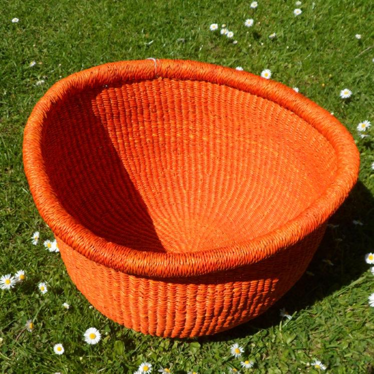 Large orange bowl