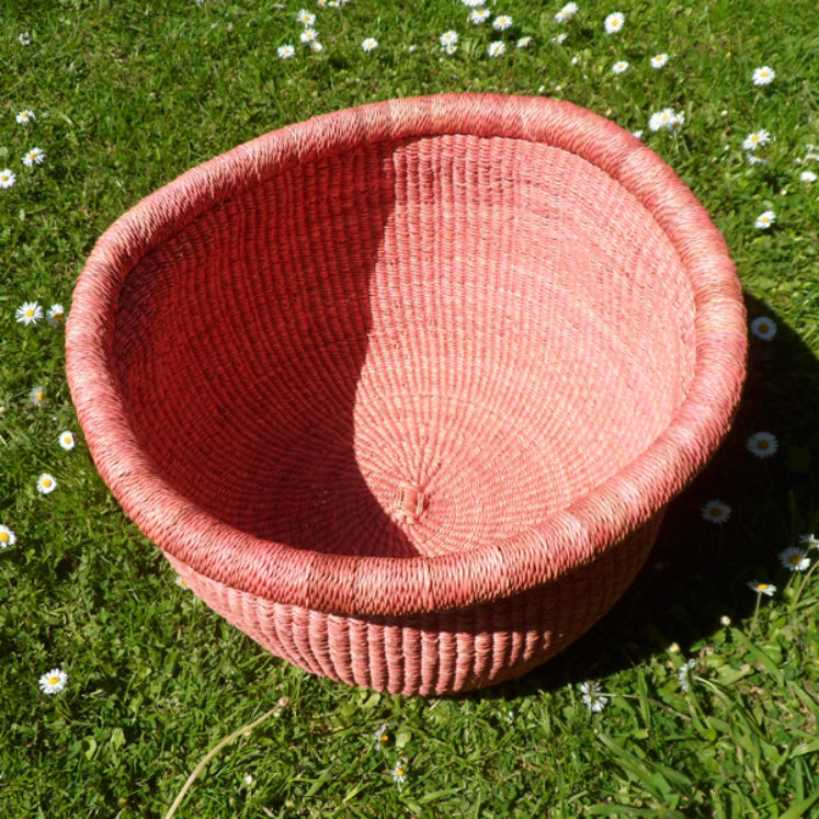 Large soft pink bowl