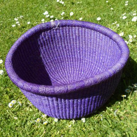 Large purple bowl