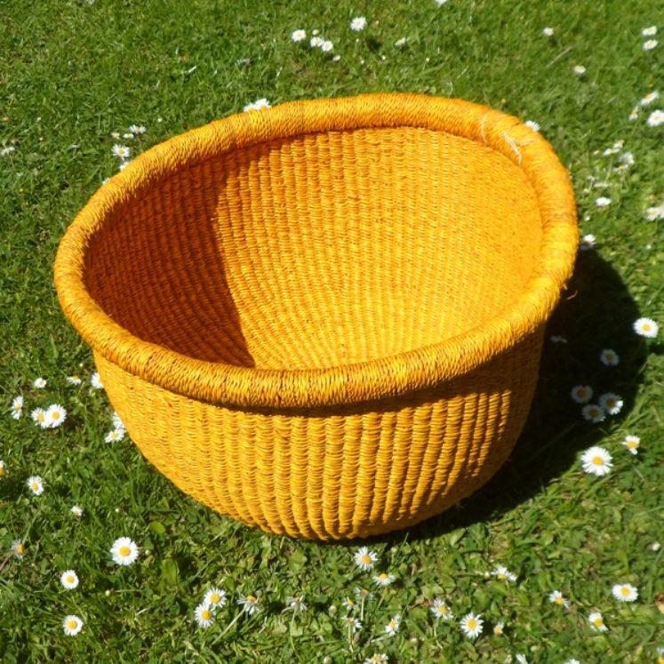Large yellow bowl