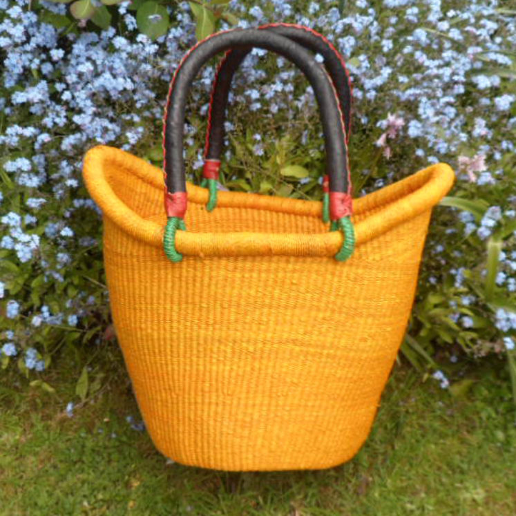 Nyariga dip dye shopping basket medium orange