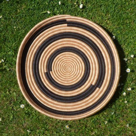 Black circles large tray /wall decoration