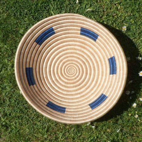 Natural and blue bowl