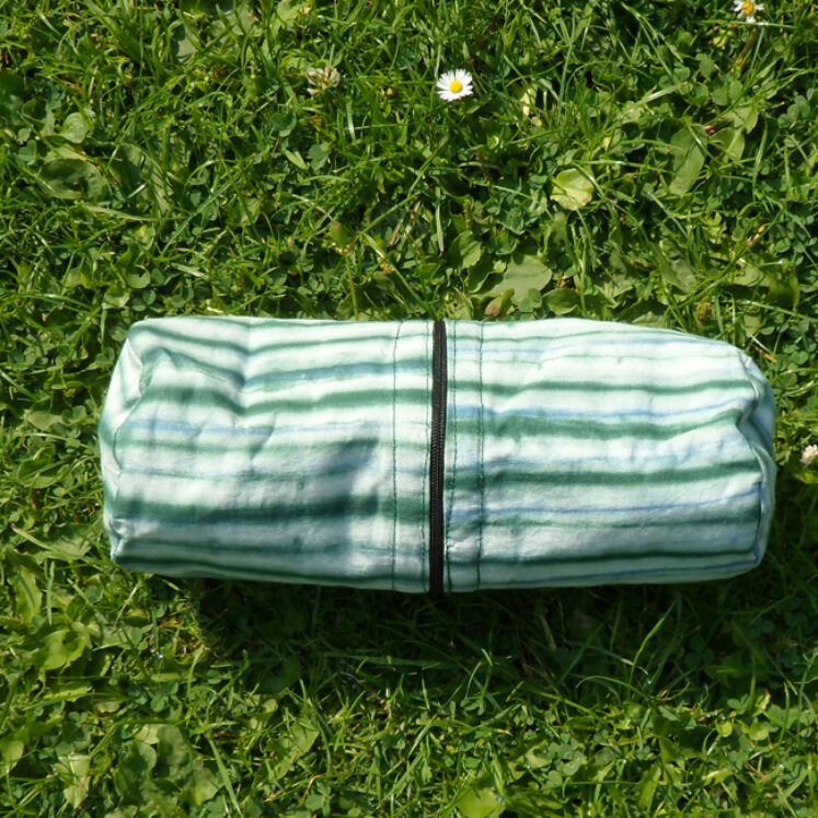 Supply case green stripe