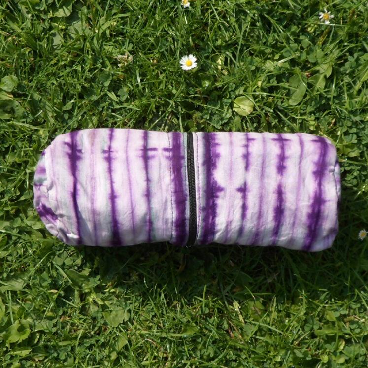 Supply case purple stripe
