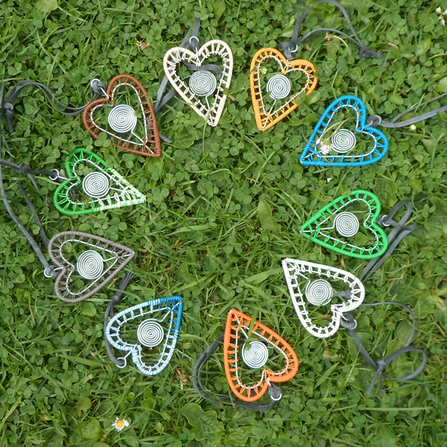 Telephone wire hearts