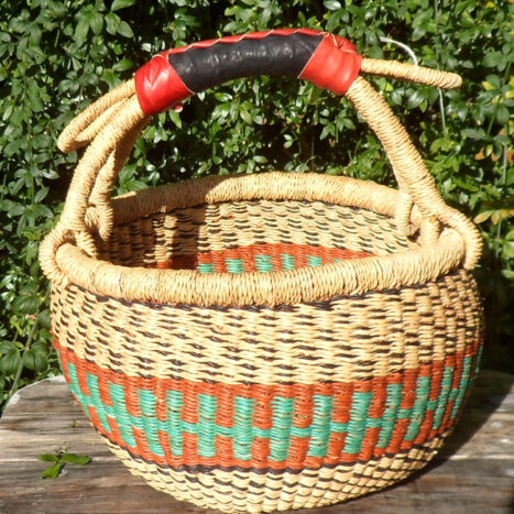 Bolga 10″ round market basket – 10