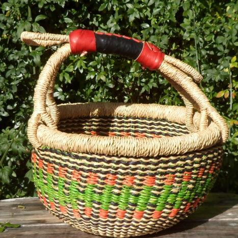 Bolga 10″ round market basket – 11