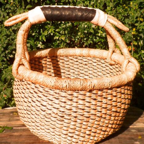 Bolga 10″ round market basket – 4