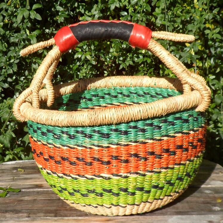 Bolga 10″ round market basket – 6