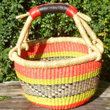 Bolga 10″ round market basket – 7