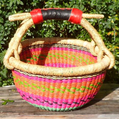 Bolga 10″ round market basket – 8