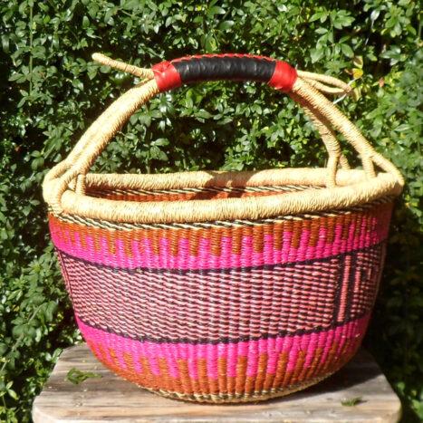 Bolga 16″ round market basket – 1