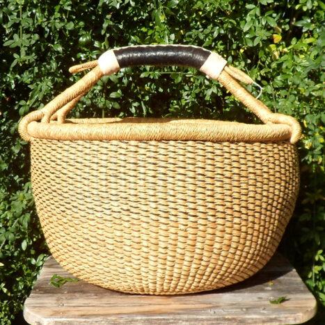 Bolga 16″ round market basket – 2