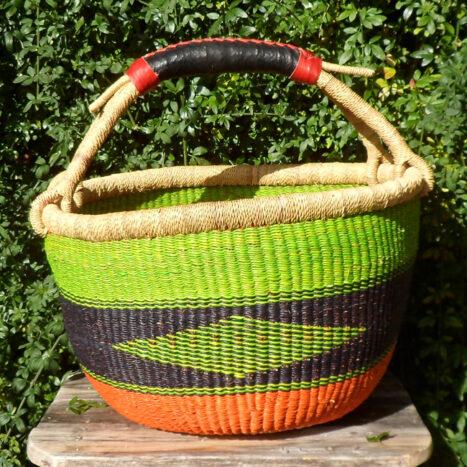 Bolga 16″ round market basket – 4
