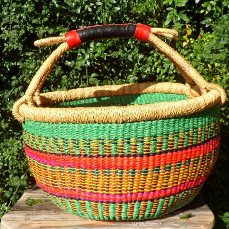 Bolga 16″ round market basket – 6