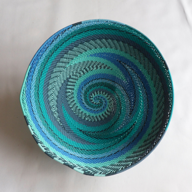 Telephone Wire Basket Bright Blues