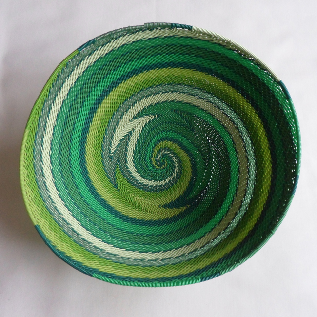 Telephone Wire Basket Bright Greens