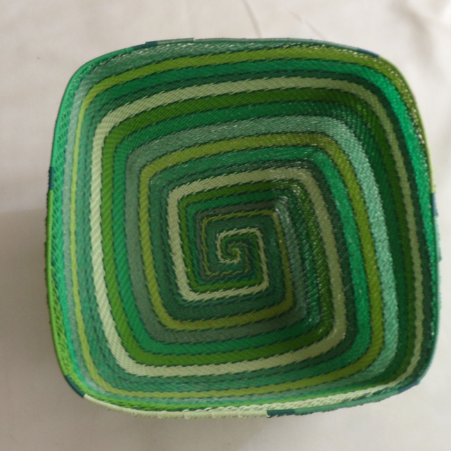Telephone Wire Basket Green Square
